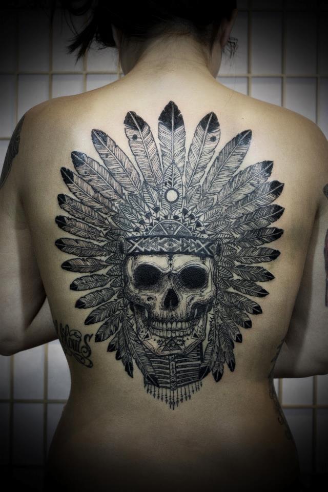 Warrior Headdress Tattoo an Indian Headdress Tattoo